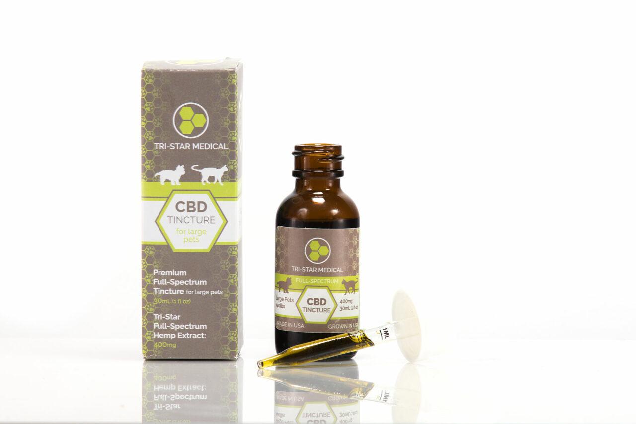 Premium CBD Tincture for Large Pets 400mg. Tri Star Medical's premium full-spectrum CBD tincture for small pets.