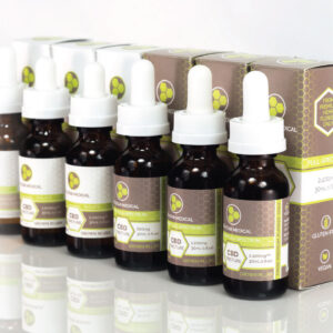 Image of Tri-Star Medical's full premium tincture lineup with a sweeping perspective from one bottle to the last.